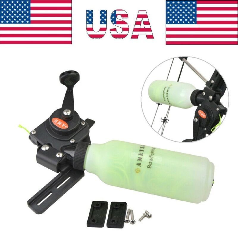 Archery Bow Fishing Reel Rope Pot Bowfishing Tools Compound Recurve Bow Hunting