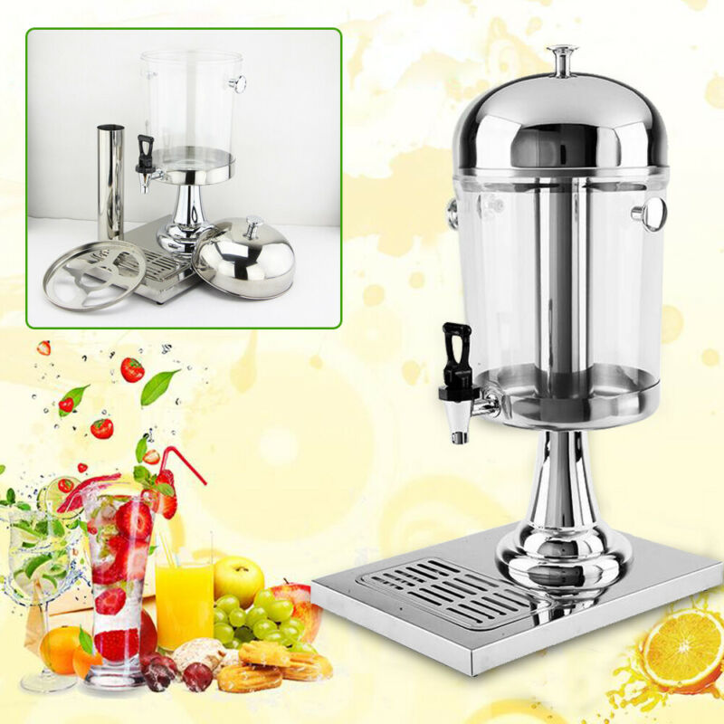 2 Gallons Stainless Steel Commercial Cold Drink Juice Frozen Beverage Dispenser
