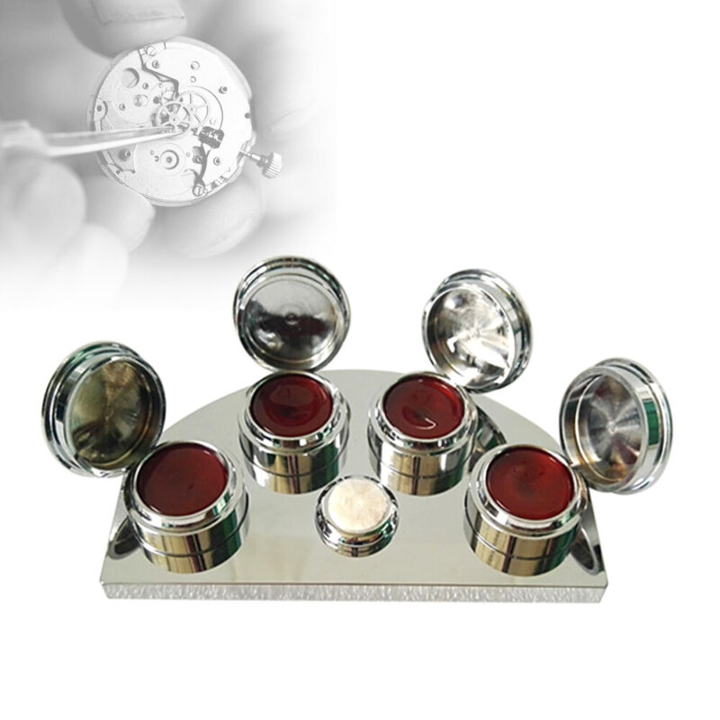 Oil Cup Stand For Professional Watchmakers Tool with 4 Containers Repair Tool
