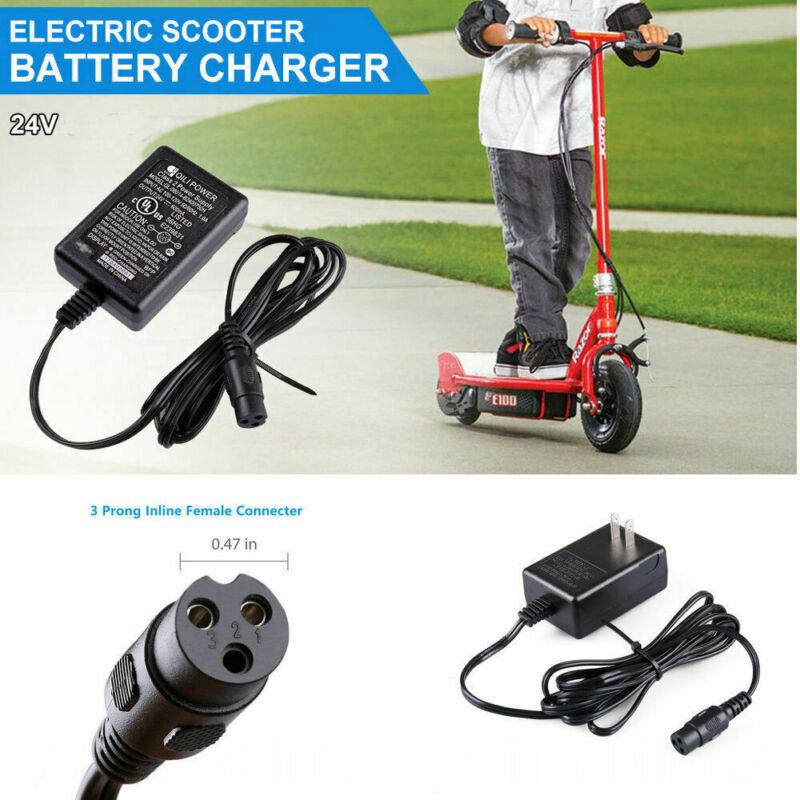 24V Scooter Battery Charger for Razor E150 E125 E200 E225 E300 E325 E100 E500 US