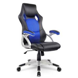 Free Delivery: PU Leather & Mesh Racing Style Office Chair Moorebank Liverpool Area Preview