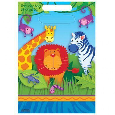 16 Jungle Safari Animals Birthday Favor Goody Bags Treat sacks Party Supplies](Jungle Safari Birthday Supplies)