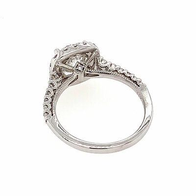 2.76 cttw F/SI-1 GIA Certified Round Diamond Halo Engagement Ring 14K White Gold 3