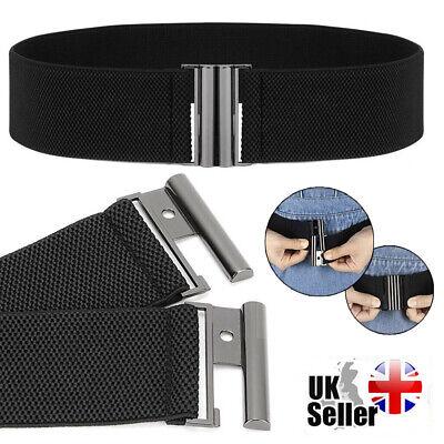 Fashion Lady Wide Belts Women Wide Elastic Belt Buckle Waist Dress Stretch Cinch