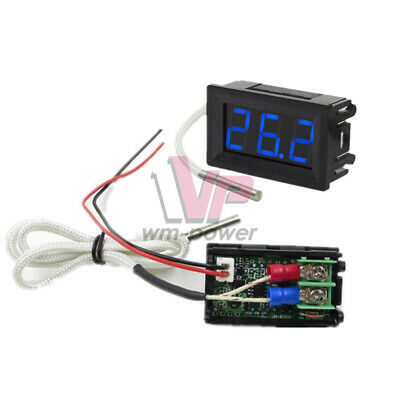 B310 Digital Blue Led Thermometer 12v Temperature Meter K-type Thermocouple