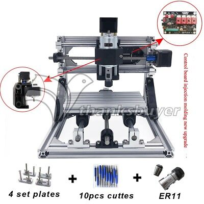 Mini Cnc 1610 Mill 500mw Laser Cnc Engraving Machine Pcb Milling Wood Router