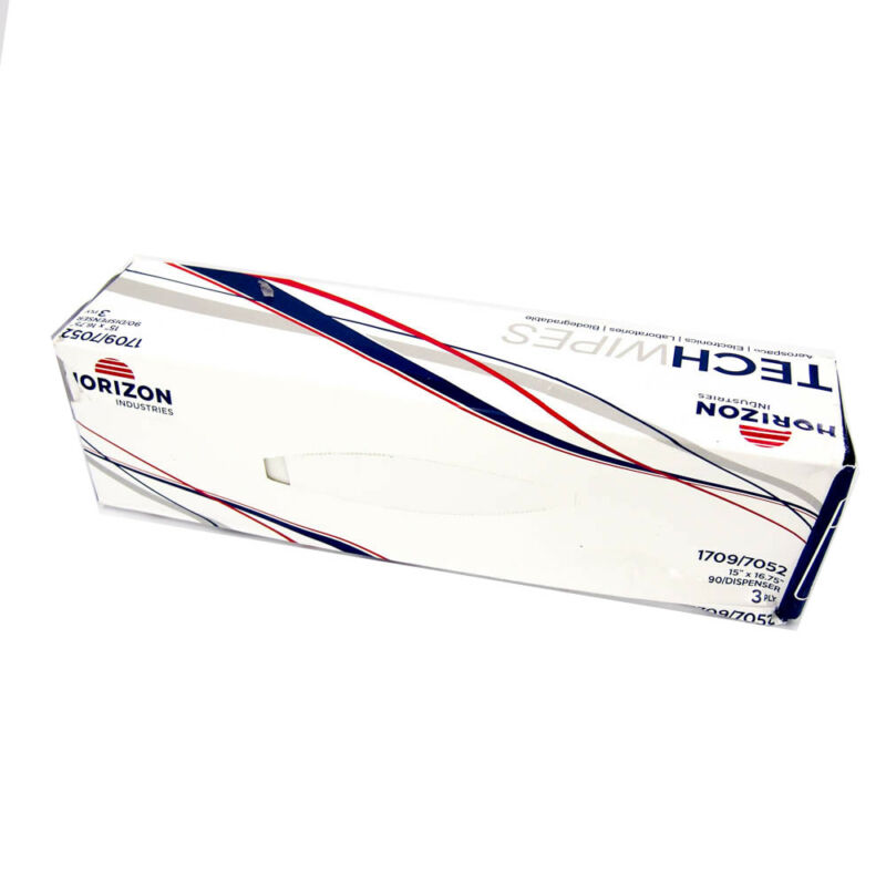 Horizon Industries 3-Ply Tissue TechWipes Light Duty Wipers 1709 (90 Sheets)