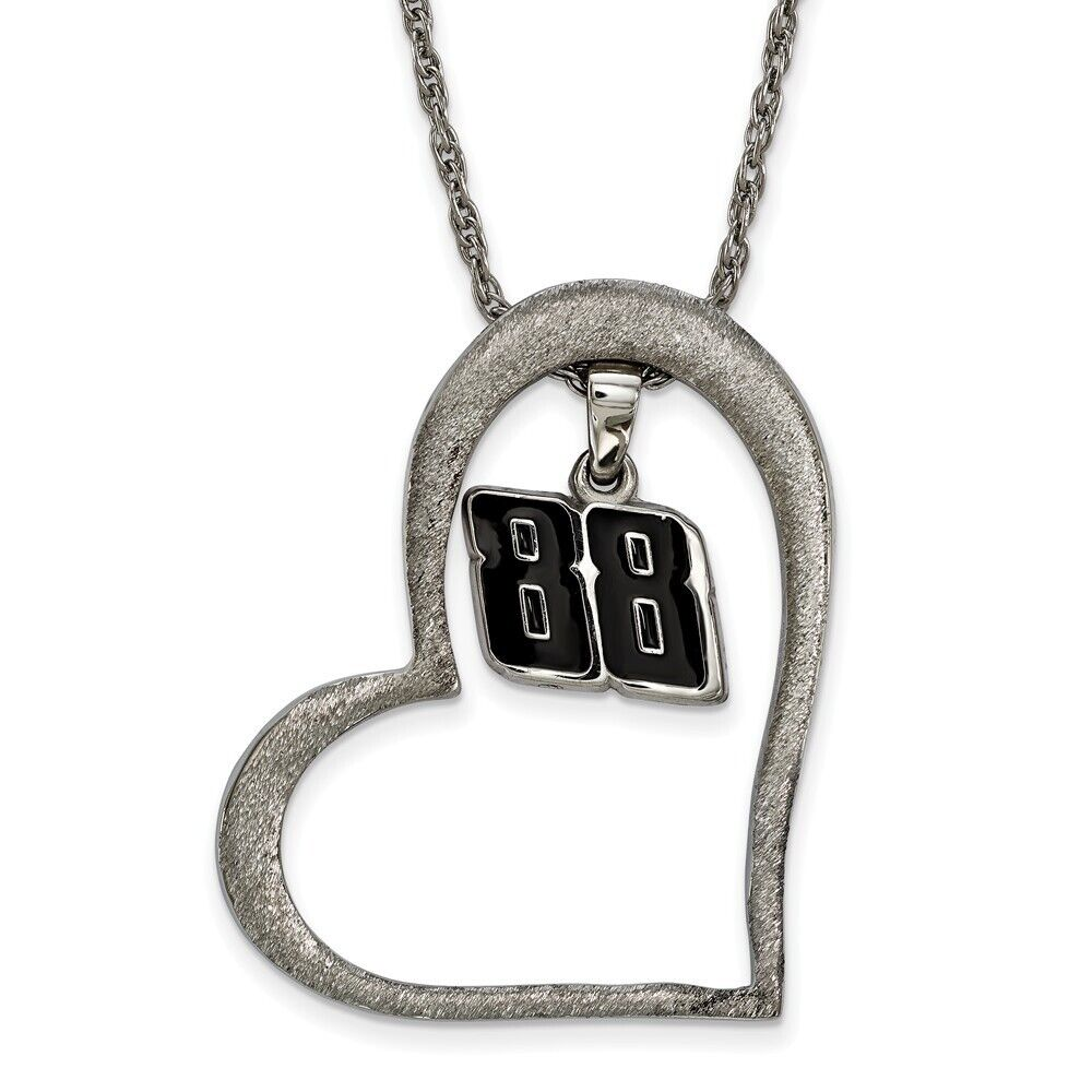 Stainless Steel Antiqued LogoArt NASCAR Bali Type # 24 Charm Pendant Necklace 18