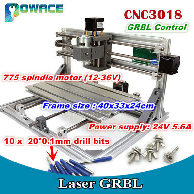 3 Axis 3018 Diy Mini Grbl Control Cnc Laser Machine Pcb Pvc Milling Wood Router