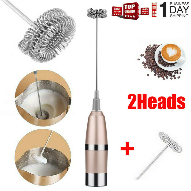 Electric Milk Frother Handheld Coffee Egg Operated Foam Make