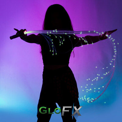 Space Whip - GloFX Light Up Glowing Rave Fashion Accessory Clothing LED Fibers