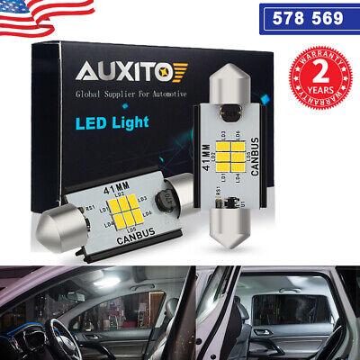6X Bulb For Chevrolet Car Interior LED 41mm Light 5730-6-SMD Xenon Blue Festoon