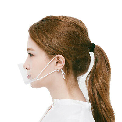 12 pcs Clear Mask Face Shield Transparent Face Covering for Chef ,Salon 012