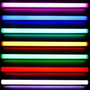 Neu 90cm LED RGB Tube Röhre Fernbedienung ALU Neonröhre Disco 230V Deckenlampe