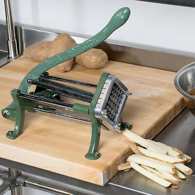 12 Green Countertop Cast Iron French Fry Potato Cutter Slicer