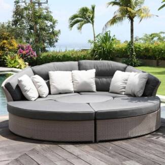 NEW! Outdoor Rattan Modular Lounge Day Bed Garden Furniture Set