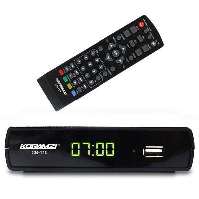 Analog To Digital TV Television Converter Box W DVR Recording Remote Control Analog Digital Converter Box
