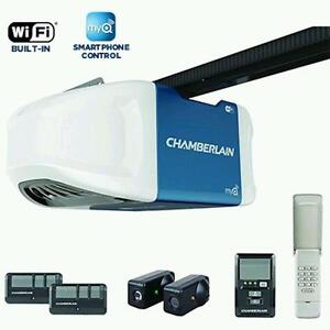 Chamberlain 3/4HP Belt Garage Door Opener with WIFI INSTALLED!