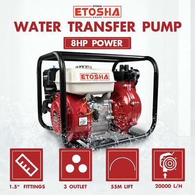 Etosha Water Transfer Pump 8hp 1.5 2 High Pressure Petrol Irrigation 4 Stroke