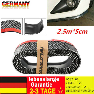 2,5mx5cm Front Spoiler Lippe Seiten Schweller universal flexibel Carbon viele ⭐⭐