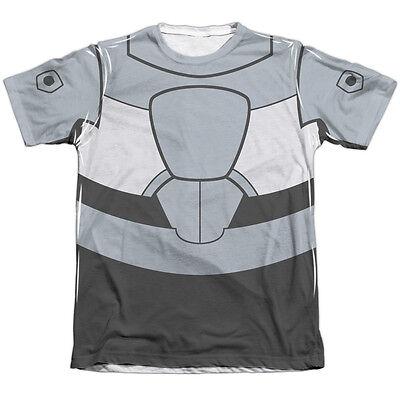 TEEN TITANS GO CYBORG UNIFORM COSTUME Front Halloween Men's Tee Shirt - Teen Titans Go Halloween