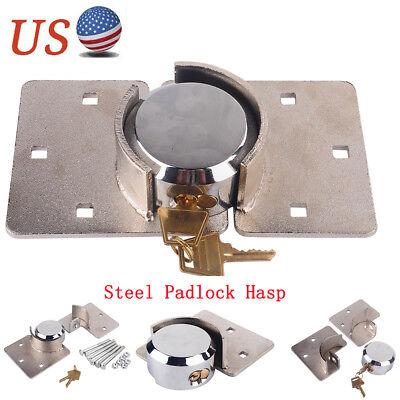 Safety Van Heavy Duty Steel Hasp 73mm Garage Shed Door Security Padlock Nut