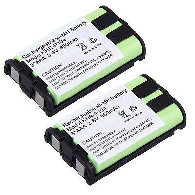 2x Phone Battery For KX-TG5423 KX-TG5428 KX-TG5431 KX-TG5432 KX-TG5433 2 X Phone Battery