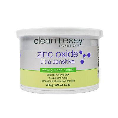 Clean+easy  Zinc Oxide Ultra Sensitive Wax 14oz Soft Hair Remove Wax x 10 Cans