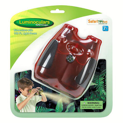 - Safari Ltd Red Translucent Binocular with Vinyl Case