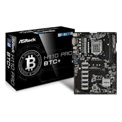 ASRock H110 Pro BTC+ 13 GPU ATX DDR4-SDRAM Mining Motherboard Cryptocurrency