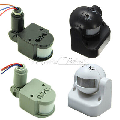12v Ac Motion Sensor (DC12V/AC 220-240V 12M White/Black/Grey 180° PIR Motion Sensor Detector Switch)