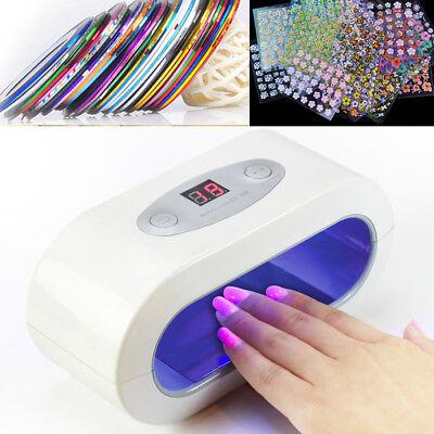 Advanced UV / LED Nail Dryer Machine Built LED Chip Light Lamp Gel Timer Salon