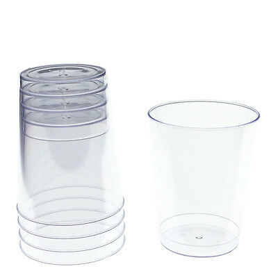 Disposable Wedding Clear Plastic Tumblers cups clear - Bulk Pack - Free Shipping