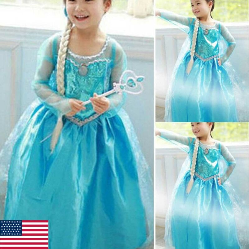 Girls Princess Dress Up Fancy Costume Party Cosplay Clothes   Kids Dresses
