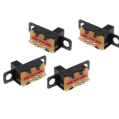 20pcs 3 Pin Spdt Micro Pcb Slide Switch Latching Toggle For Power Projects Fd8