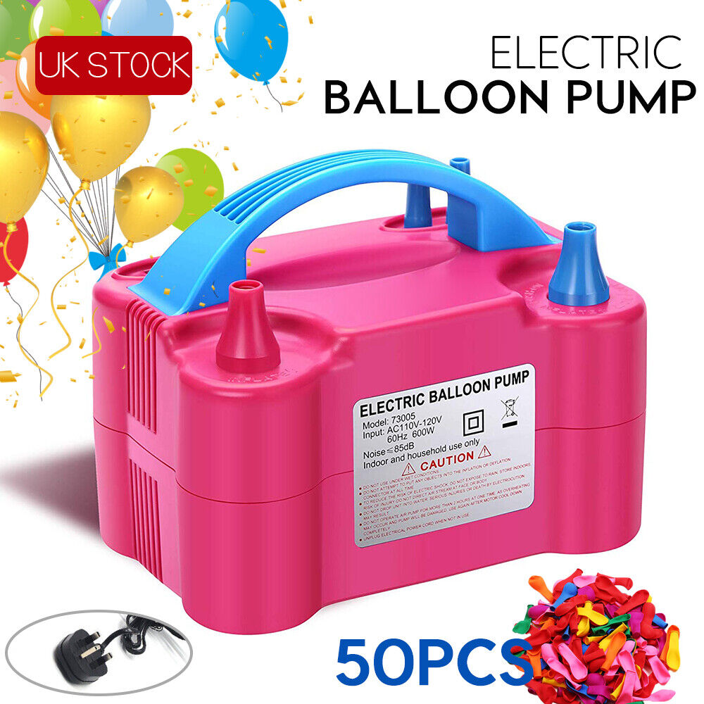 Portable Electric Balloon Pump Balloon Inflator Party Air Blower Tools UK