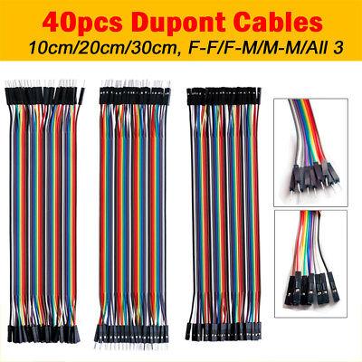 40 Pin Dupont Cables M-f M-m F-f Jumper Breadboard Wire Gpio Ribbon Pi Arduino