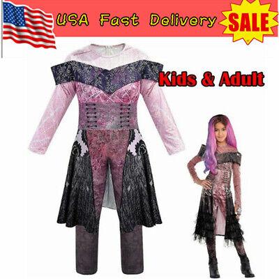 Halloween Onesie Costumes (Descendants 3 Audrey Mal Costume Jumpsuit Halloween Cosplay Outfit Fancy)