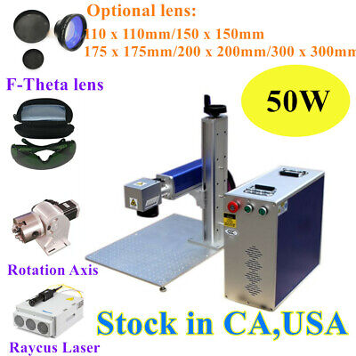 Usa Origin 50w Split Fiber Laser Marking Engraving Machine Ratory Axis Fda