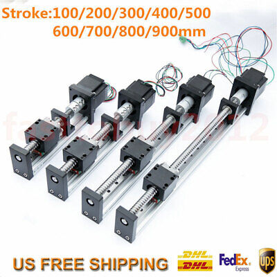 Cnc Linear Rail Guide Slide Stage Actuator Ball Screw Motion Table Nema23 Motor