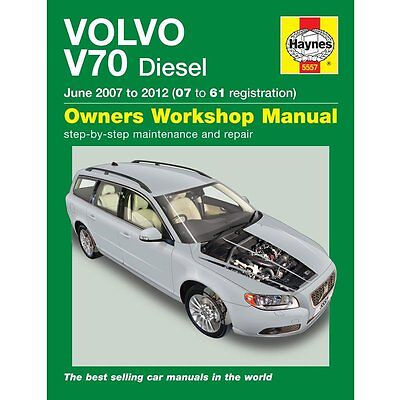 Haynes Manual Volvo V70 Diesel 07 to 61 Car Workshop Repair Manuals, Book 5557