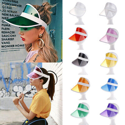 New Summer PVC Hat Sun Visor Party Casual Hat Clear Plastic Adult Sunscreen Cap](Clear Visor Hats)