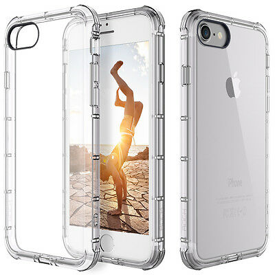 For Apple iPhone 8 7 Case Clear Hybrid Slim Shockproof Soft TPU Bumper Cover