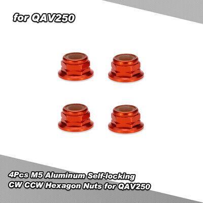 4Pcs M5 Aluminum Self-locking CW CCW Hexagon Nuts for QAV250 210 FPV Racing K5T2 for sale  Bensenville