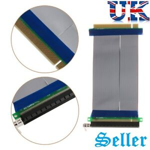 PCI-E PCI-Express 16X Riser Card Flexible Ribbon Extender Extension Cable Cord