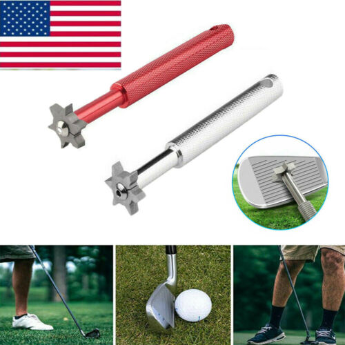 Golf Club Wedge & Iron Groove-Sharpener & Regrooving 6 Heads Iron Wedge Cleaning
