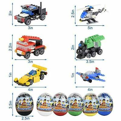 Easter eggs filled with Building Brick blocks toys - 6 pcs](Easter Egg Toys)