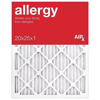 Best for Allergy Protection- AiRx Allergy 20x25x1 Air Filters -Box of 6- MERV 11
