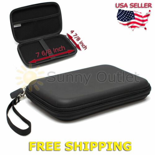 7 Inch Black Hard Shell Carrying Case For Garmin Drive 60 60LM 60LMT GPS