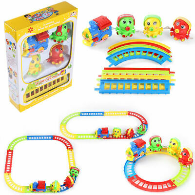 Electric Train Animal Friends Tracks Play Set Kids Toy With Music Christmas Gift